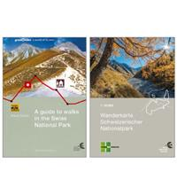 Combi-pack hiking map and hiking guide