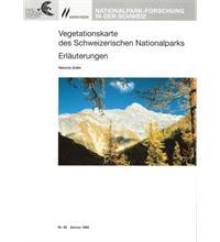 Vegetationskarte des Schweizerischen Nationalparks Erläuterungen