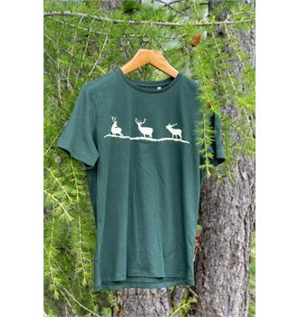 T-Shirt 3 Hirsche Flaschengrün