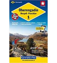 Carte de randonnée Haute-Engadine-Bergell-Puschlav