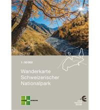 Carte de randonnée Parc National Suisse