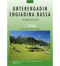 Carte nationale de la Suisse Basse-Engadine