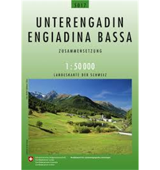 Carte nationale de la Suisse Basse-Engadine