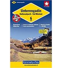 Carta escursionistica Bassa Engadina-Nationalpark-Val Müstair