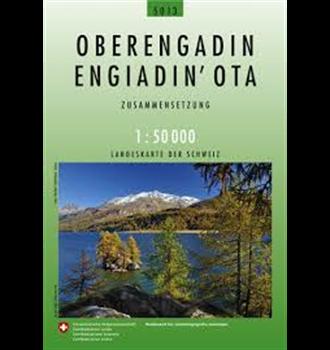 Carta nazionale della Svizzera Alta Engadina