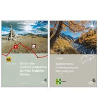 Combiné guide/carte de randonnée du Parc National Suisse